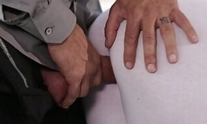 Ripped pants, hardcore sex with stepdad