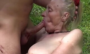 Saggy tits granny is gonna get destroyed here