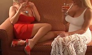 Two hot blonde MILFs fuck a pretty brunette YouPorn