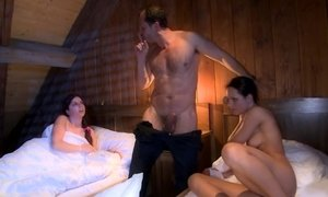 Exciting threesome with naughty females