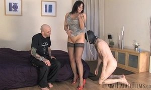 Carly's Cuckold part1 - Mistress Carly - FemmeFataleFilms - FemDom Sex xVideos