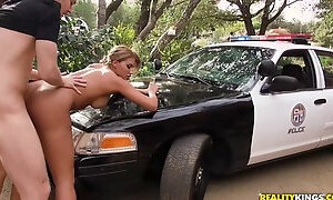 Nymphomaniac Female Cop Enforces Young Guy To Lick Her Ass