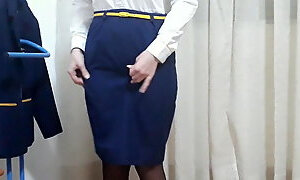 My wife is flight attendant, she's getting ready to work (1)