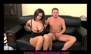 FemaleAgent Big boobed MILF results in thick ropes of cum xVideos