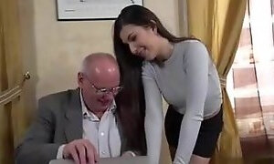 Secretary fucks her old boss man