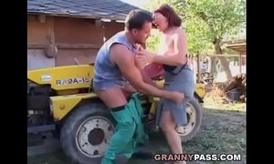 German Granny Rides Young Dick Outdoor xVideos