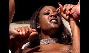 Big boobed black slut Sierra takes two agents in all holes fmm xVideos