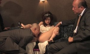 Mature Asian Businessmen And Petite Japanese Whore AnalDin