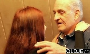 Young slut hard fucked by old horny man he fucks her pussy and licks clit xVideos