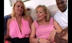 Blonde Moms share a Big Black Cock together in Amateur Wife Threesome Video xVideos
