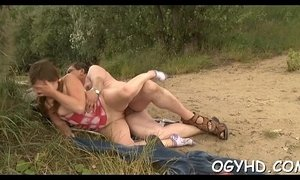 Stunning juvenile beauty rides old rod xVideos