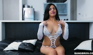 Hot POV clip featuring sex-appeal hottie Valeria Marin AnySex
