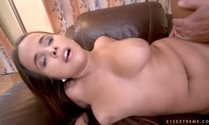 Young sweetie Olivia Nice hooks up with one old fart AnySex