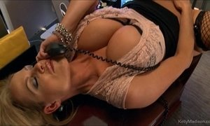 Busty kelly madison has hot phone sex in her office xVideos