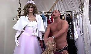 Cock starved blonde mature gets fucked in a clothes shop