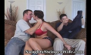 Busty Hotwife Swings With Aggressive Stud