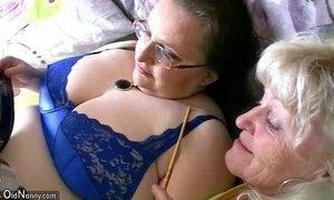 Chubby granny and old granny masturbating xVideos