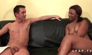 Bonne black francaise grave sodomisee et prise en double pour son casting xVideos