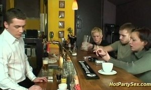 cum drinking teen in club xVideos
