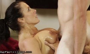 NuruMassage Stepson will Do Anything for Mommy! AnalDin