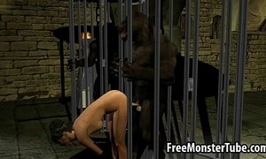 3D babe sucks cock and gets fucked by a werewolf xVideos