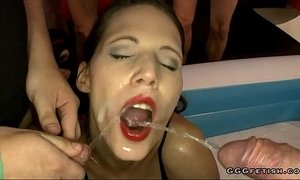 Guys full her sexy mouth with sperm and urine xVideos