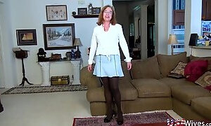 USAwives Aged Granny Carmen Woolly Cunt Rubbing
