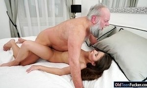 Hungarian Anita Bellini sucks grandpa before fucked for cum xVideos