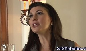 Real stepmom swallow cum