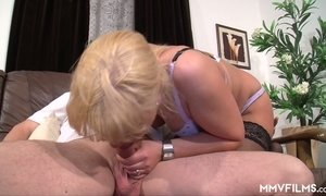 Nerdy blonde in glasses gets intimate with her perverted step daddy AnySex
