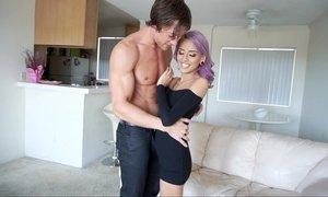 Purple hair whore