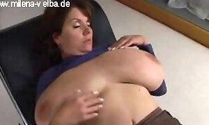 Sleeping big tits gets groped