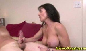Bigtit brunette milf tugging hard dick xVideos