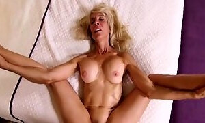 My Gooey Sperm Covers Old Pussy Of Prankish Granny