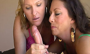 Two Horny Mature Jerking Off a Cock in CFNM Vid