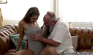 Teen spermed by granddad