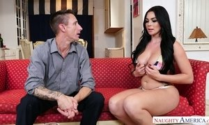 Captivating brunette Skyla Novea is having dirty sex fun with sisters boyfriend