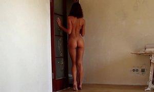 Skinny European teen stripping Beeg