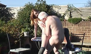 Old grandpa fucks zara durose
