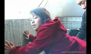 Cute Asian giving a hot outdoor blowjob xVideos