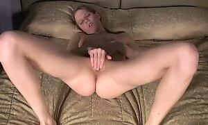 Slim petite fingering her hole