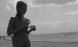 Russian Teen Nudist Flashes Her Amazing Bald Pussy Under Hot Sun AnalDin