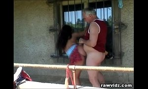 Grandpa Just Banged A Hot Busty Teen Outdoors xVideos