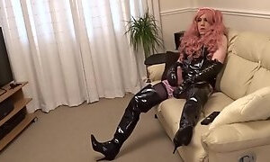 PVC Maid in Thigh Boots and PVC Panties