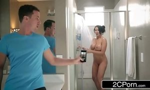 Step Son Catches Reagan Foxx In The Shower xVideos