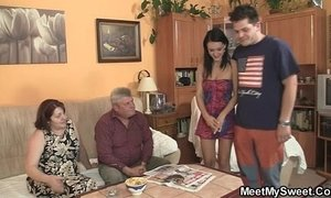 Innocent girl is seduced by her boyfriend's mom and fucked by old daddy xVideos