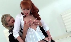 Lady Sonia and Red XXX hot Lesbian sybian masturbation YouPorn