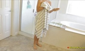 Showering Teen Sister Spied Then Fucked xVideos